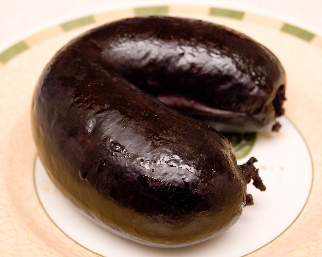 Black pudding, preferred dinner of Cristiano Ronaldo. Or not.