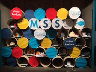 Manchester Stationery Show's fancy-Dan entrance display