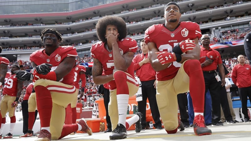 NFL stars take a knee, and everyone on social media decides to #takeaknee
