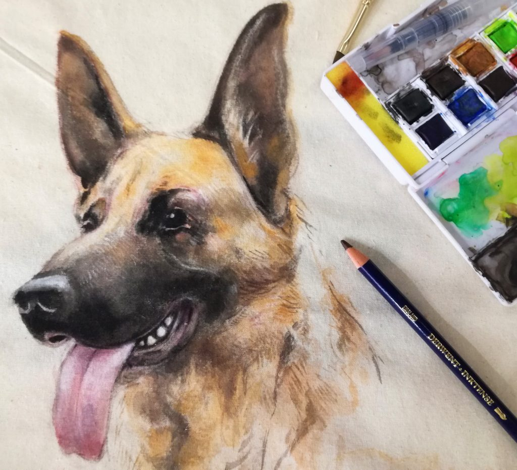 Derwent took artist Jake Spicer to Creativeworld, who was well trainined in all things Inktense